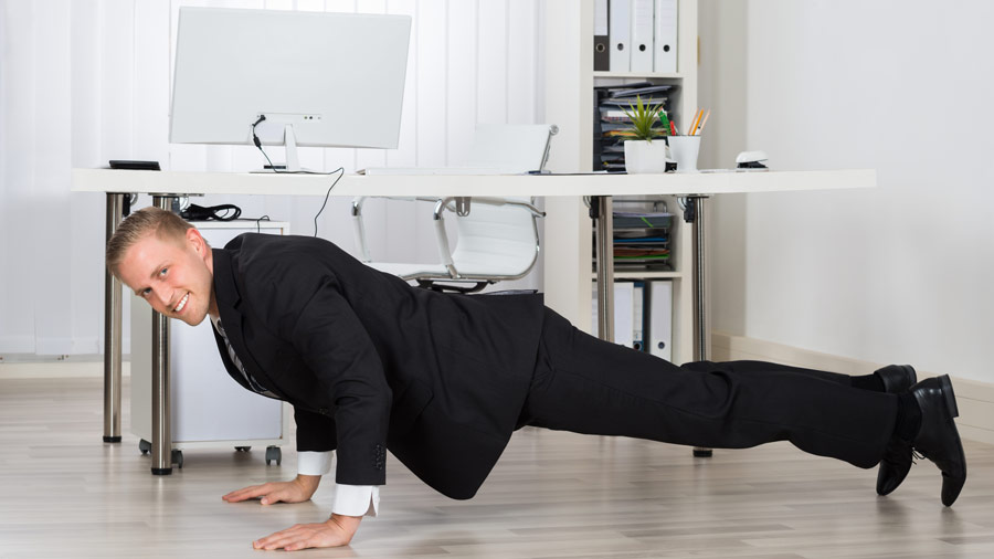 5 Ways to Sneak in a Workout at the Office - office exercise
