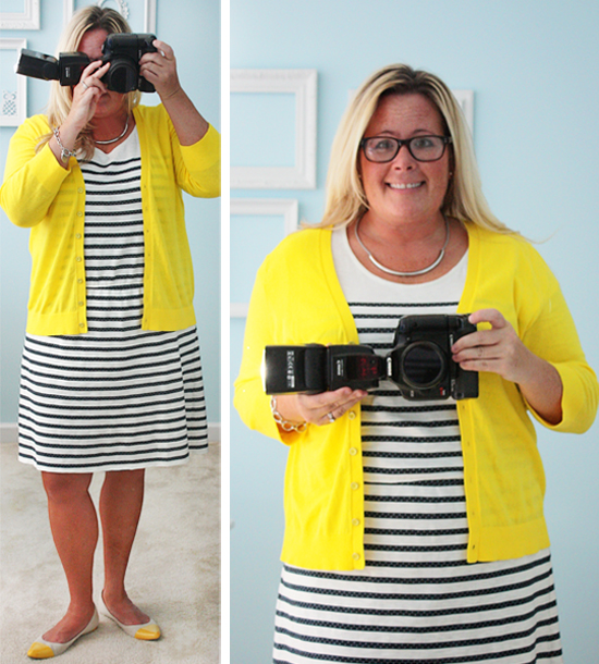 Yellow, Stripes + Polka Dots WIWW #76 - Live Laugh Rowe - stripes with polka dots