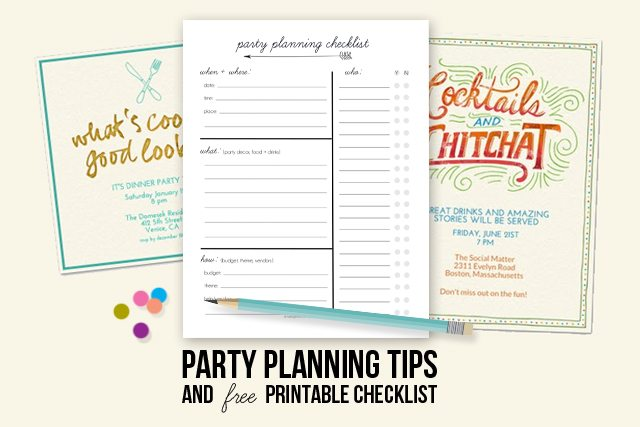 Party Planning Tips  Printable Checklist - Live Laugh Rowe