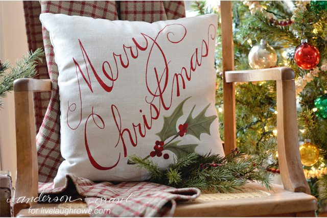 How to Paint a Christmas Pillow - Live Laugh Rowe - decorative christmas pillows
