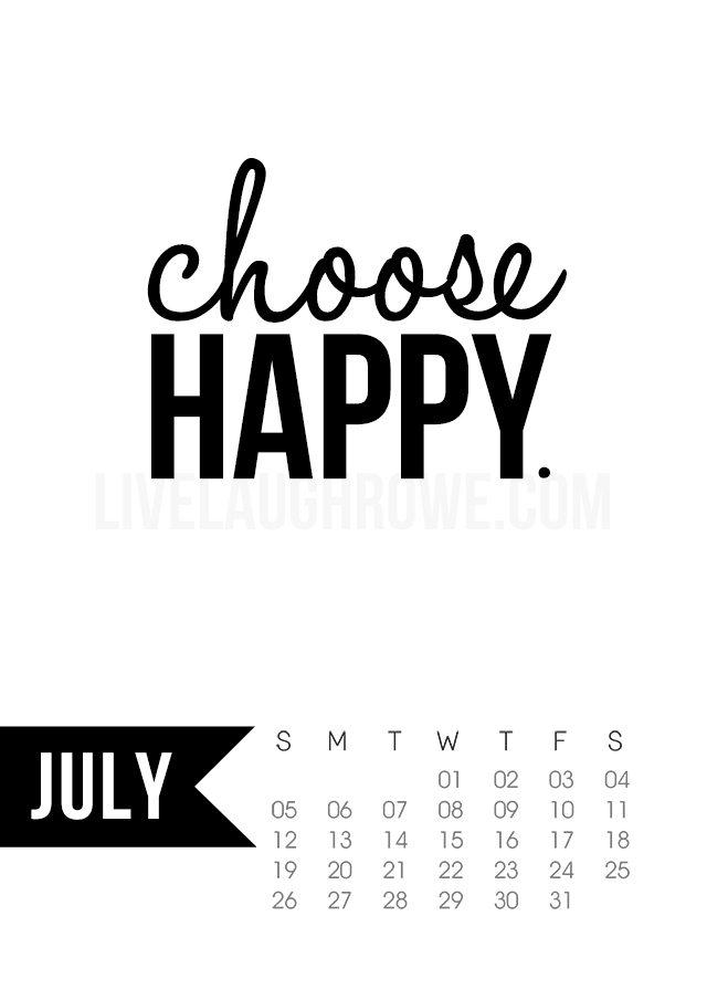 July 2015 Calendar Free Printable - Live Laugh Rowe