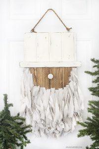 Rustic Santa Door Hanger | Christmas Door Decoration
