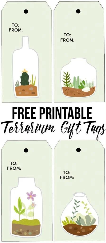 Printable Succulent Terrarium Gift Tags - Live Laugh Rowe