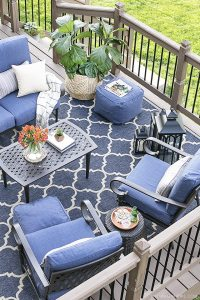 Backyard Oasis with Shades of Blue - Live Laugh Rowe