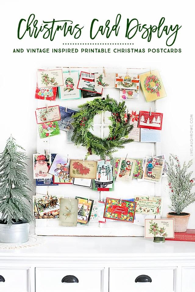 Vintage Inspired Printable Christmas Postcards - Live Laugh Rowe