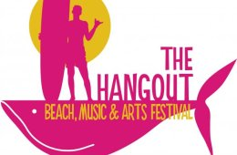 the hangout beach music festival color logo