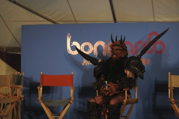 Gwar in the Press Tent @ Bonnaroo 2010