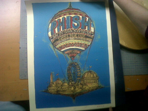 phish chicago toyota park poster