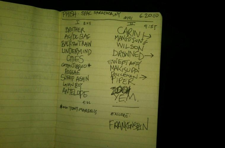 phish spac night two setlist