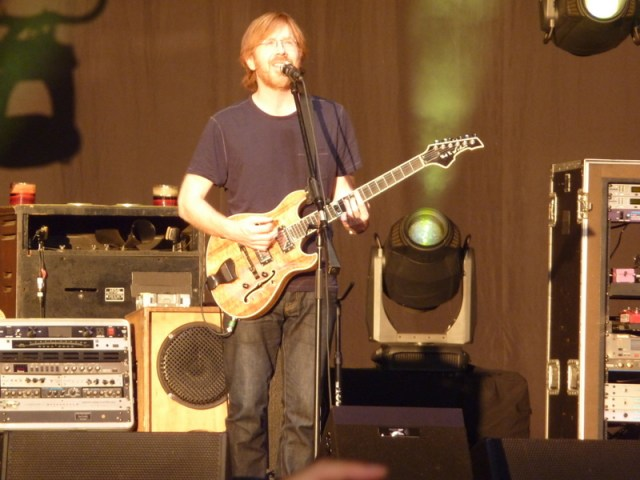 Trey starting things up for the evening...