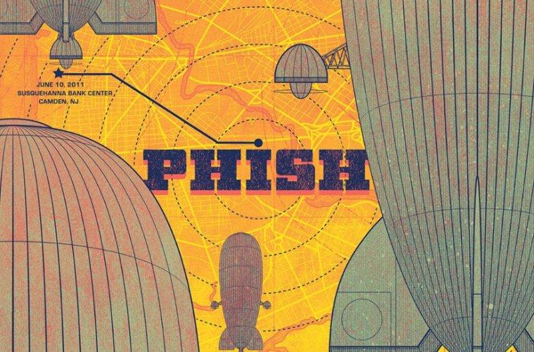 phish camden 2011 poster