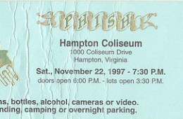 phish hampton 97 ticket