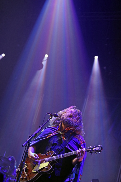 Yim Yames of My Morning Jacket @ Brooklyn's Williamsburg Park - 8/19/12 || Photo © Kevin Fuller