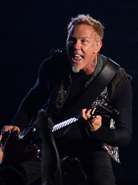 James Hetfield of Metallica @ Outside Lands 2012 || Photo © Jimmy Grotting