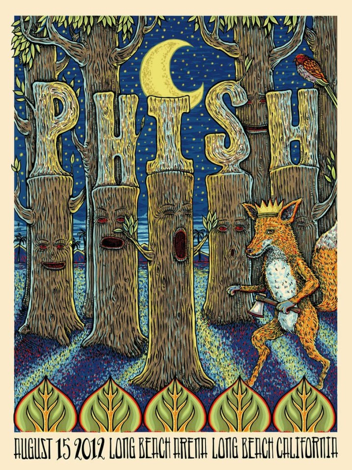 phish long beach poster
