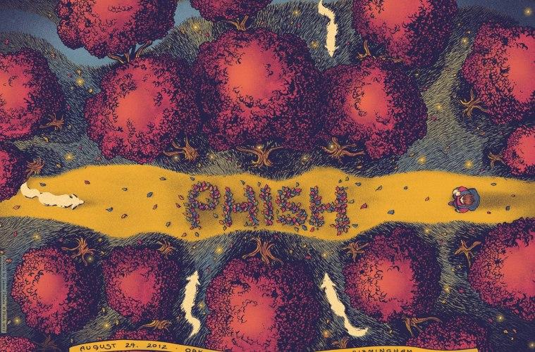 phish oak mountain poster