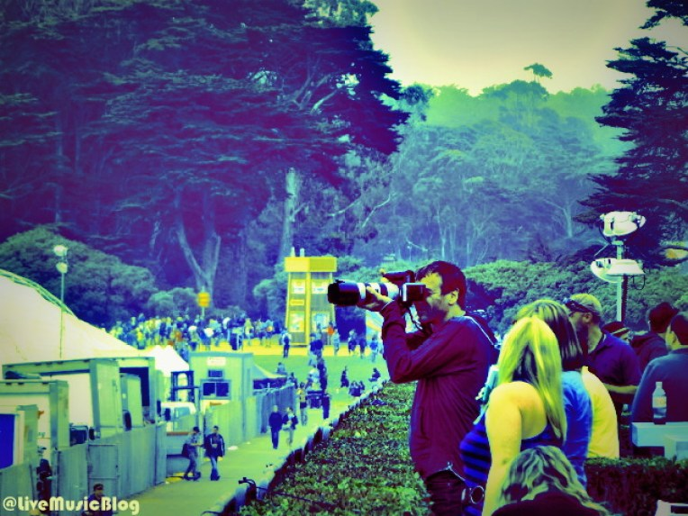 Photo of a Photographer @ Outside Lands 2012 || Photo © Wesley Hodges