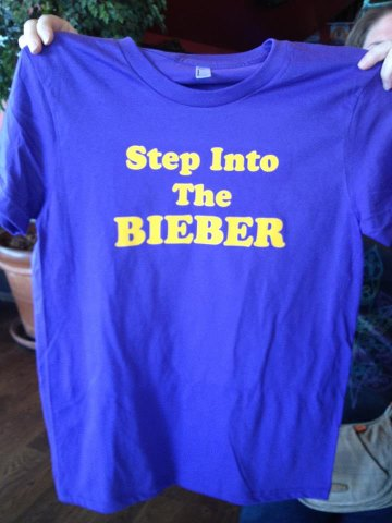 step into the bieber