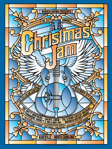 24th Annual Warren Haynes Christmas Jam Poster.  Tip from @HiddenTrack