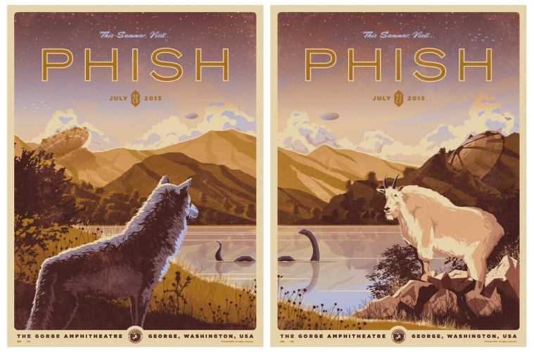 phish gorge poster dkng