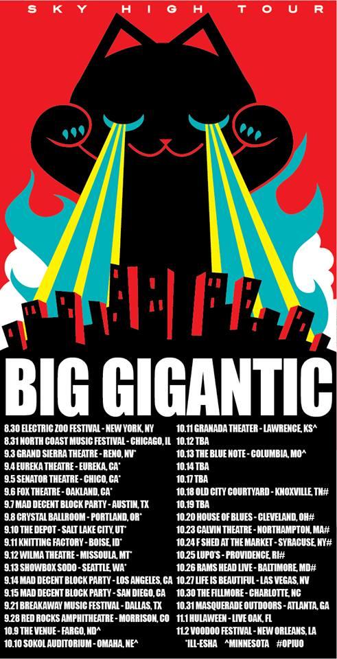 big gigantic tour dates