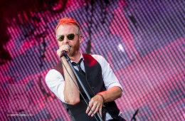 The National performing at LouFest in St. Louis on September 7th, 2013.