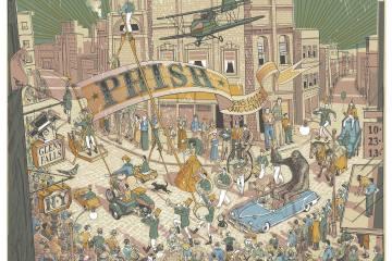 phish glen falls poster