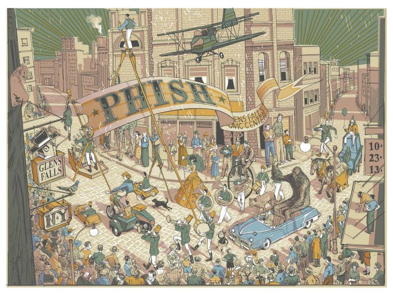 phish glen falls poster