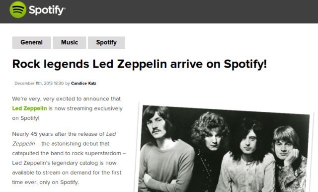 Rock legends Led Zeppelin arrive on Spotify    Spotify Blog