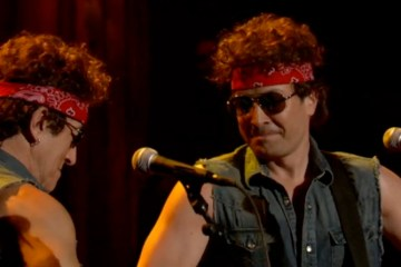bruce springsteen and jimmy fallon chris christie traffic jam