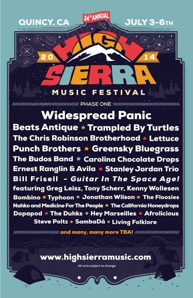 high sierra music festival 2014 lineup