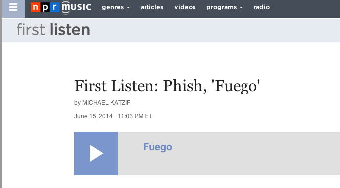 First Listen  Phish   Fuego    NPR