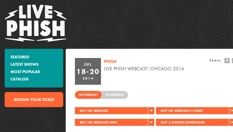 LivePhish.com   Live Phish Webcast  Chicago 07 18 20 2014