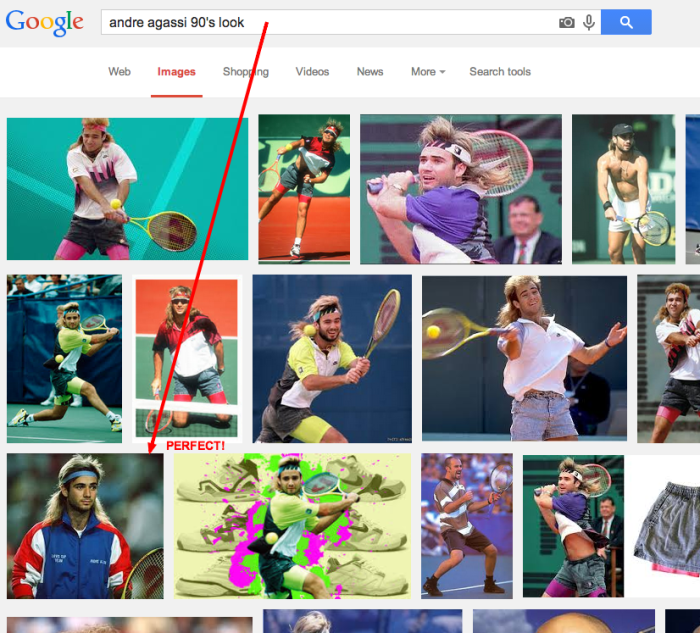 andre agassi 90 s look   Google Search