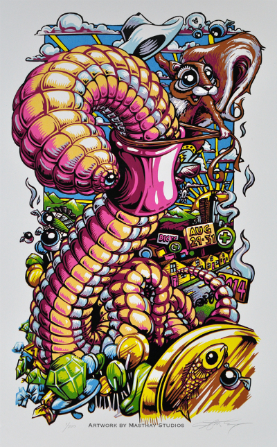 """Back of the Worm"", Dicks 2014 Print by AJ Masthay"