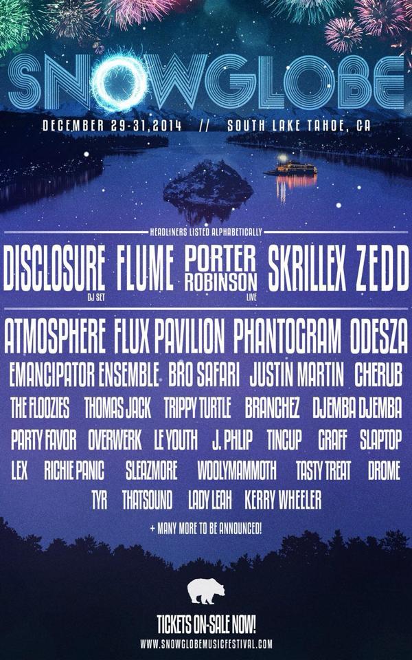 Snowglobe Music Festival Announces 2014 Lineup Live