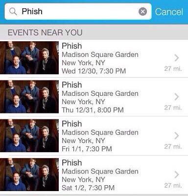 Ticketmaster leak confirms phish madison square garden run for Ticketmaster madison square garden