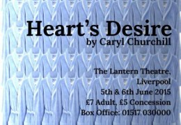 WHATS ON: Heart's Desire | Lantern Theatre | 5 & 6 June 2015