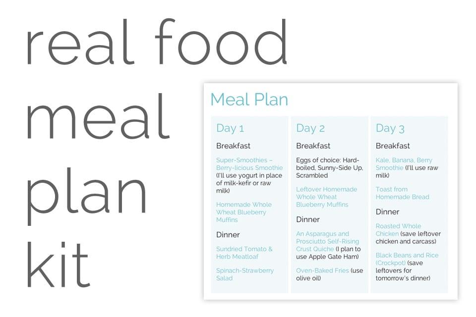 Real Food Meal Plan Kit April 7-20 - Live Simply