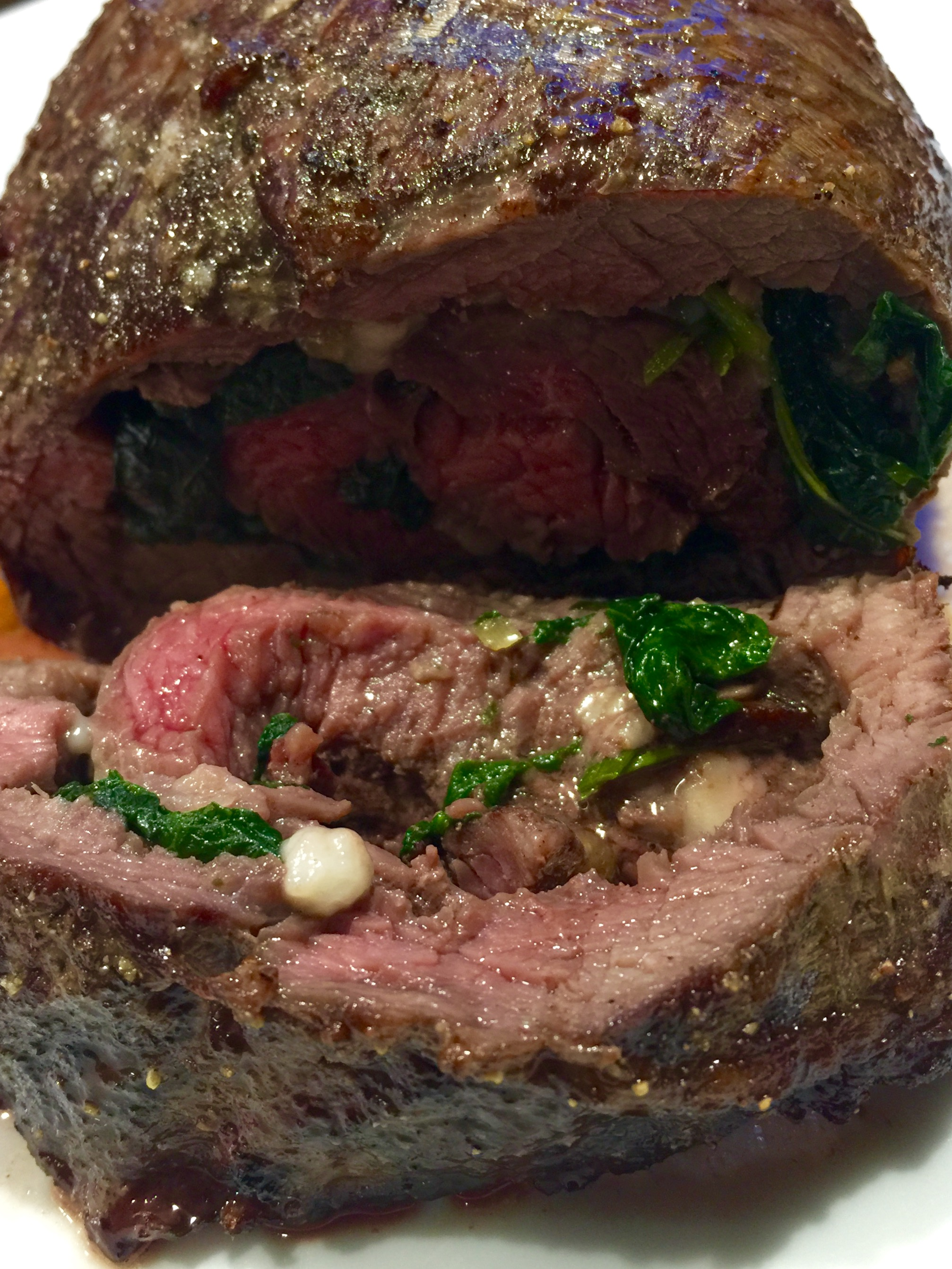 Lamb Meat Cooked Stuffed Roasted Beef Flap Live The Live