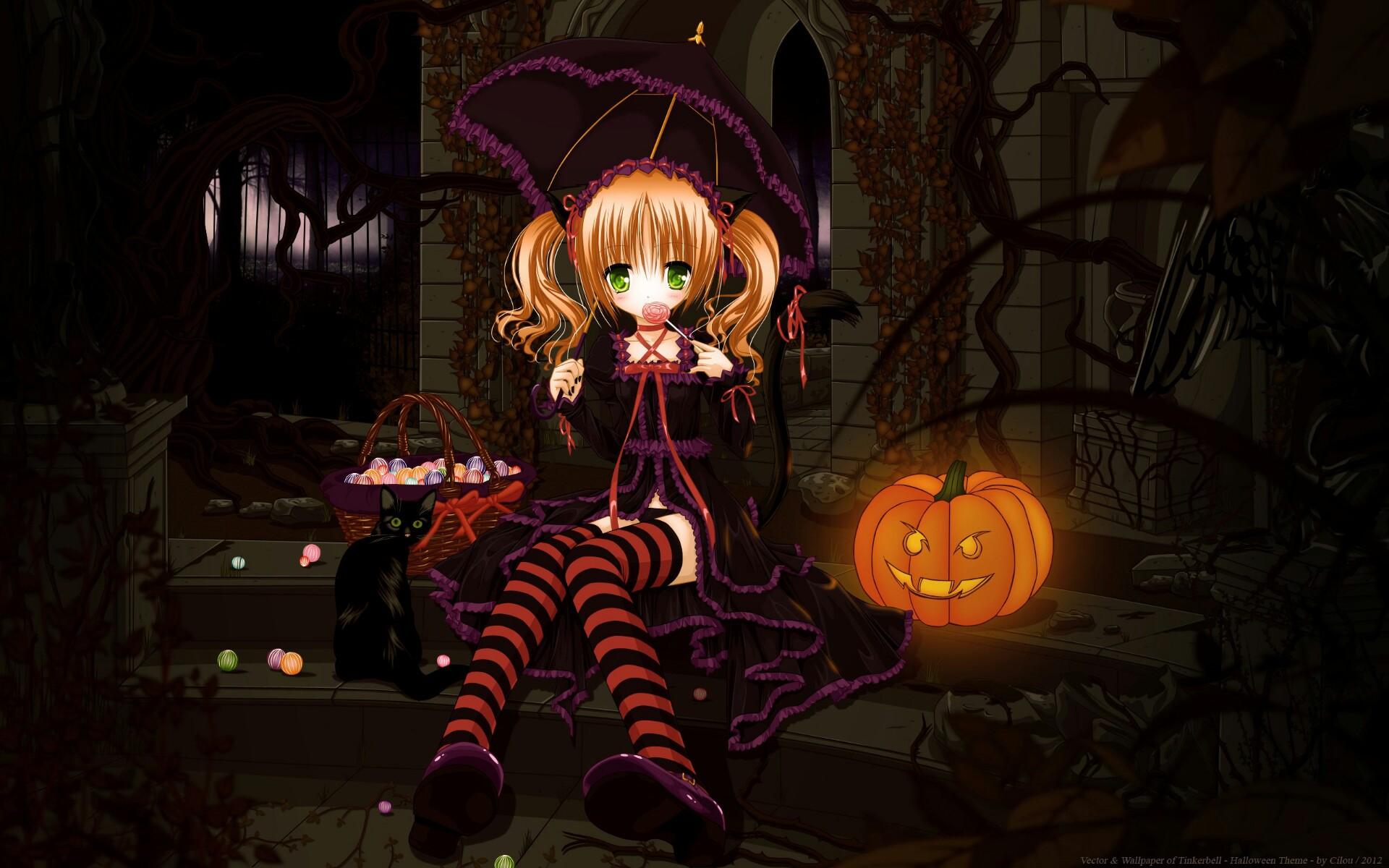 Computer Lock Screen Wallpapers Girls Cute Halloween Anime Wallpaper Hd 2018 Wallpapers Hd