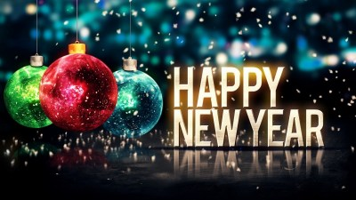 Full size Happy New Year Ornament 2018 Wallpaper 2018 - Live Wallpaper HD