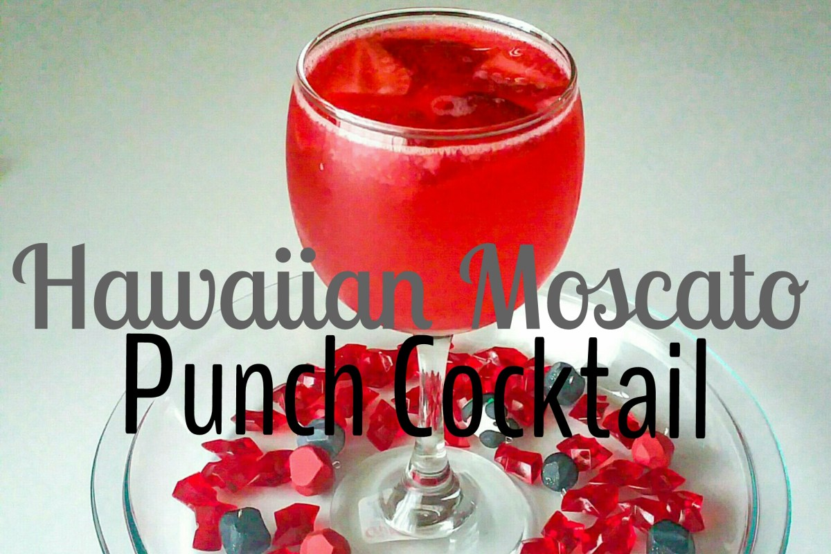 Tipsy Tuesday... Hawaiian Moscato Punch Cocktail Drink