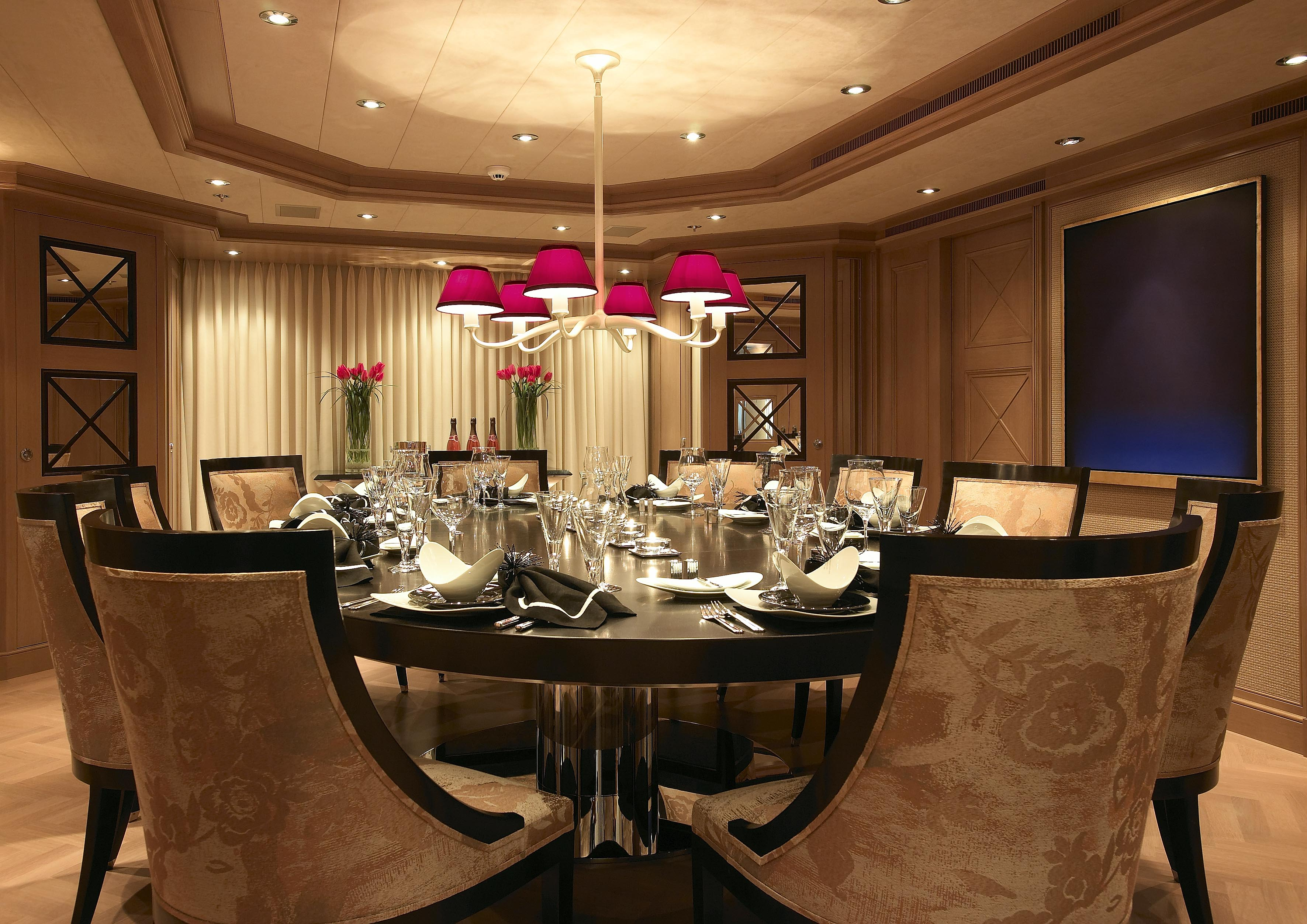 Luxurious Dining Rooms Feadship Yacht Secret Interior Superyachts News Luxury