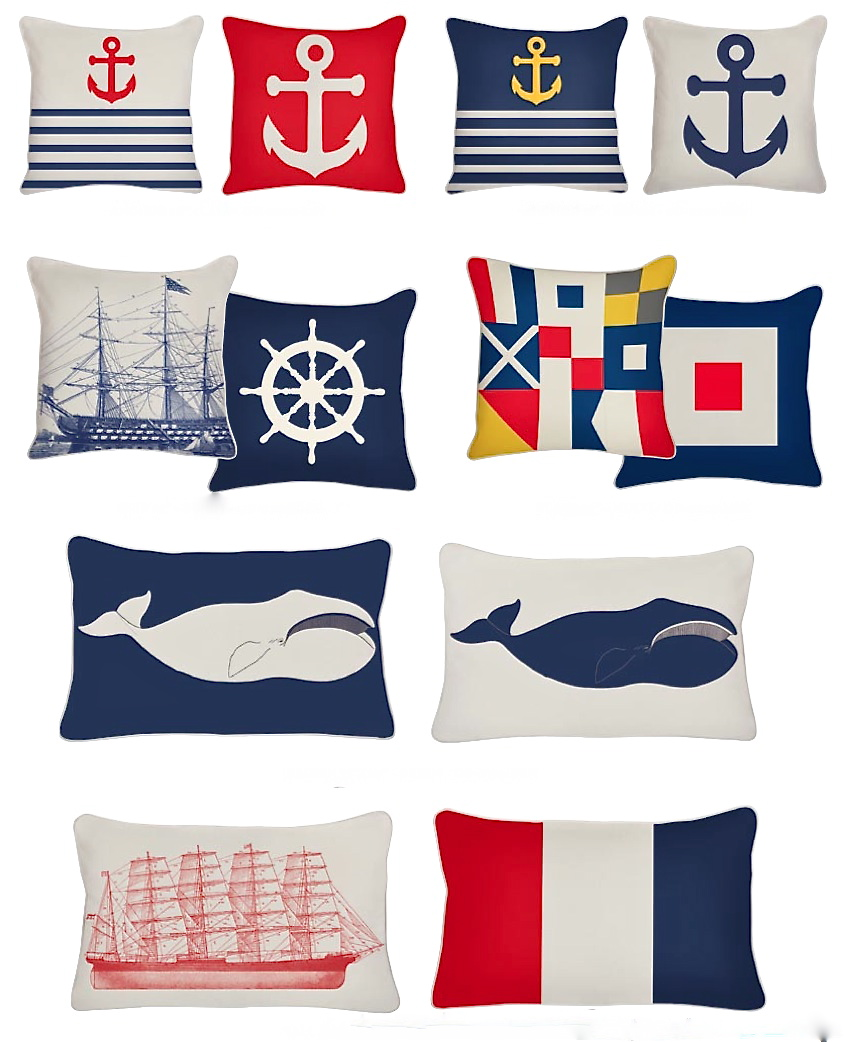 Nautical Sofa Throws Indoor Outdoor Nautical Throw Pillows From Thomas Paul