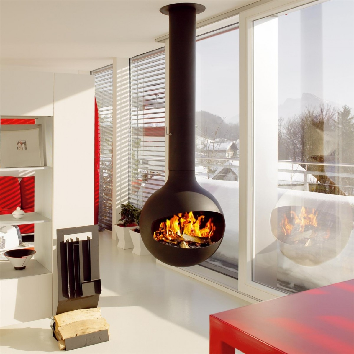 Modern Fireplaces Turn Up The Heat With Modern Fireplace Updates