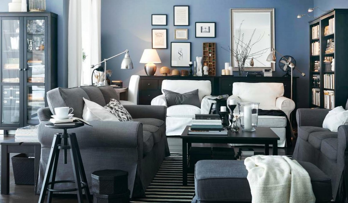 ... Blue Gray Color Scheme For Living Room