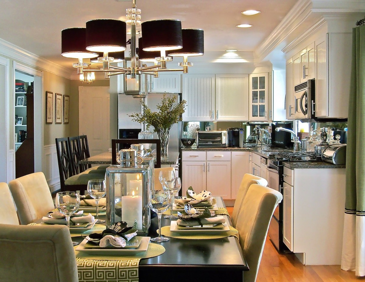 Dining Room Black And White Kitchens In Todays Open Concept Home