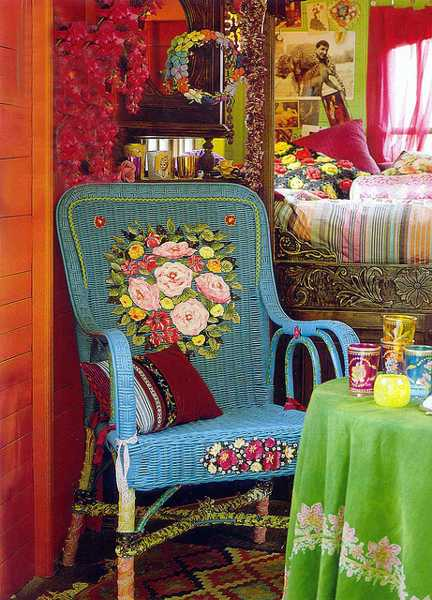 Turquoise Accent Chair Free-spirited Bohemian Interior Design