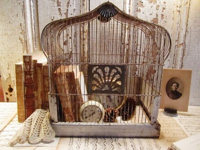 Victorian Floor Lamps Decorating With Vintage Bird Cages